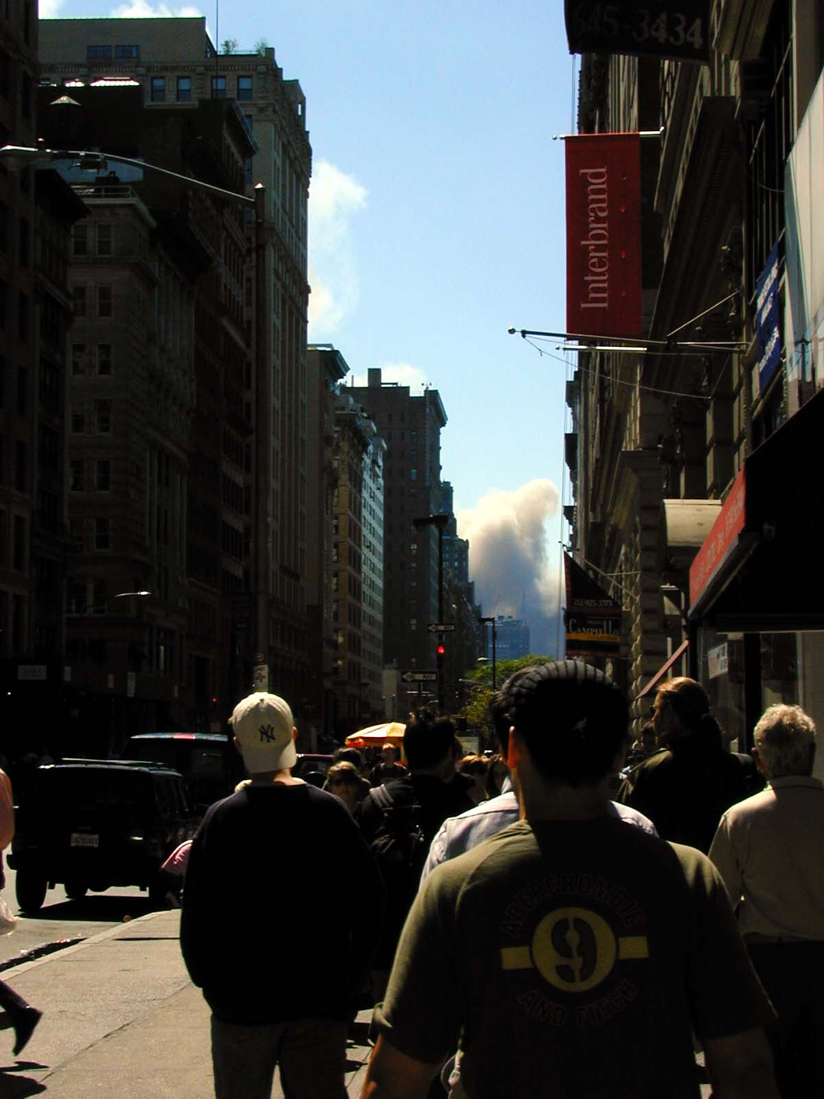 055 - 1PM - 5th ave looking south, smoke in the distance